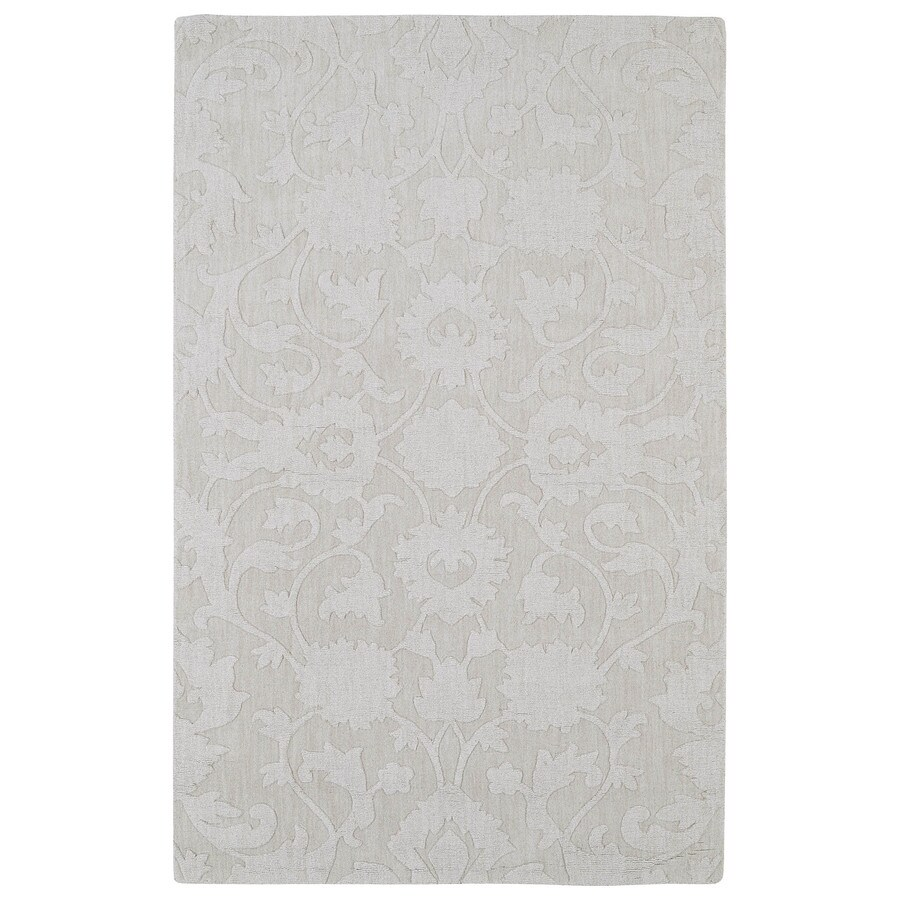 Kaleen Imprints Classic Ivory Rectangular Indoor Handcrafted Southwestern Area Rug (Common: 4 x 6; Actual: 3.5-ft W x 5.5-ft L)