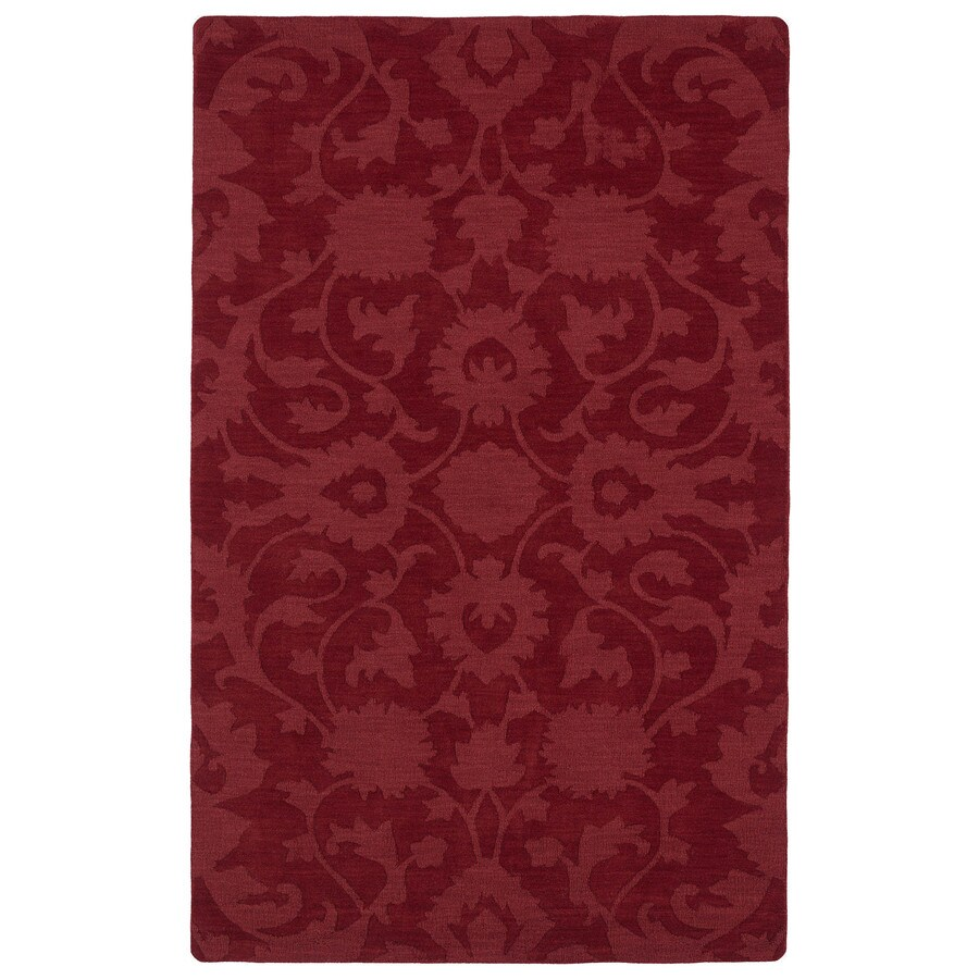 Kaleen Imprints Classic Red Rectangular Indoor Handcrafted Southwestern Area Rug (Common: 4 x 6; Actual: 3.5-ft W x 5.5-ft L)