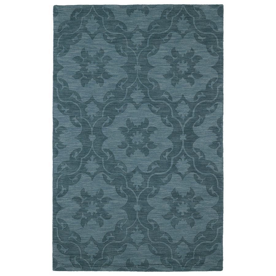 Kaleen Imprints Classic Turquoise Rectangular Indoor Handcrafted Southwestern Area Rug (Common: 4 x 6; Actual: 3.5-ft W x 5.5-ft L x 0-ft Dia)