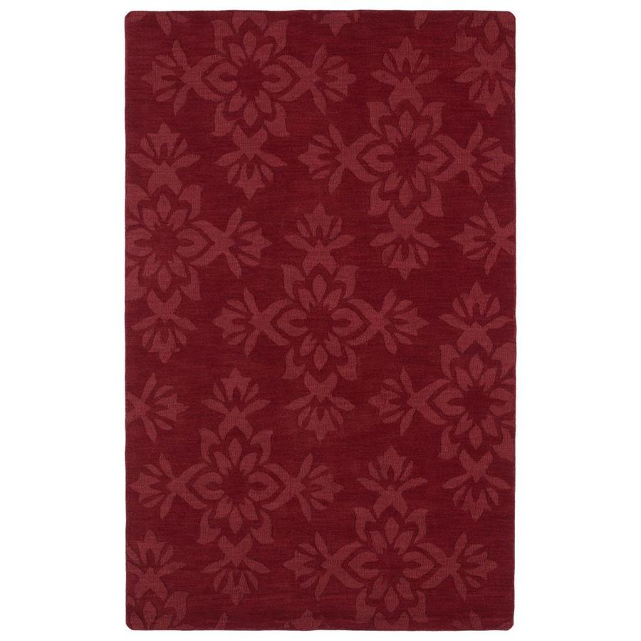 Kaleen Imprints Classic Red Rectangular Indoor Handcrafted Nature Area Rug (Common: 10 x 14; Actual: 9.5-ft W x 13.5-ft L)