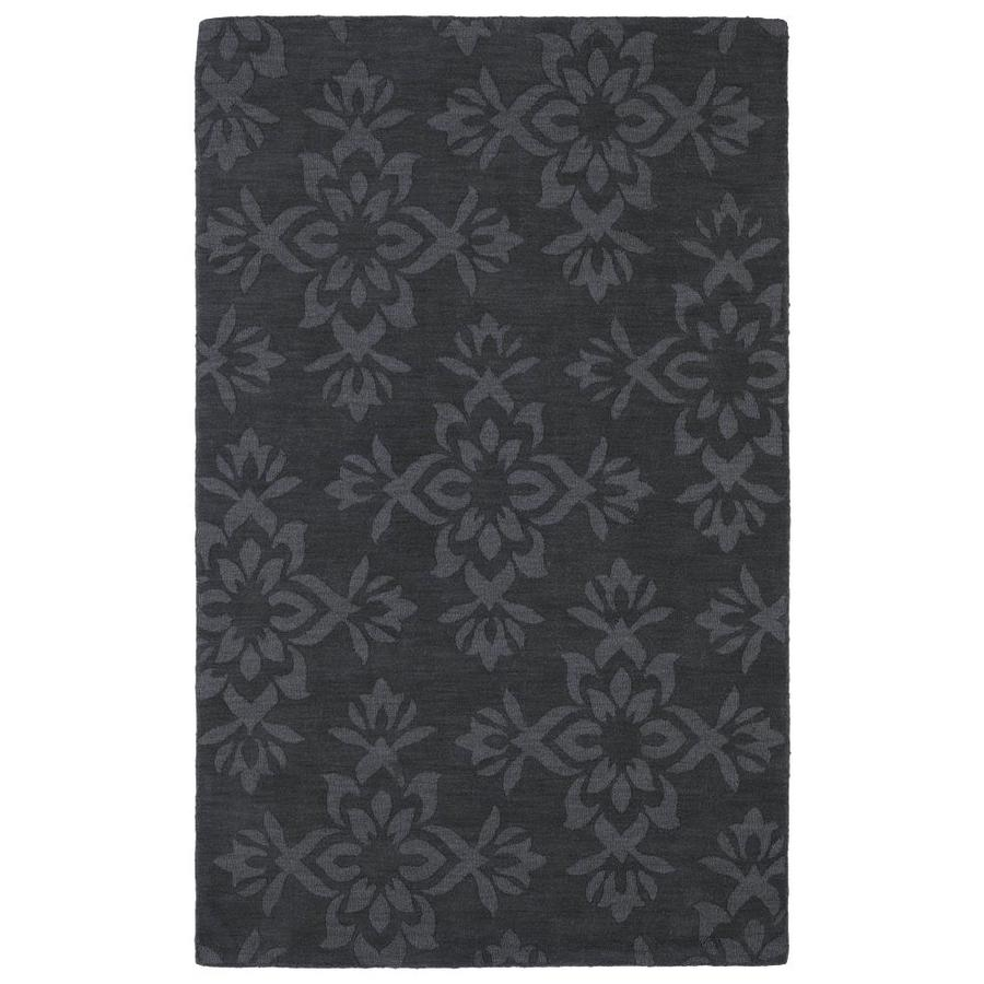Kaleen Imprints Classic Charcoal Rectangular Indoor Handcrafted Nature Area Rug (Common: 8 x 11; Actual: 8-ft W x 11-ft L)