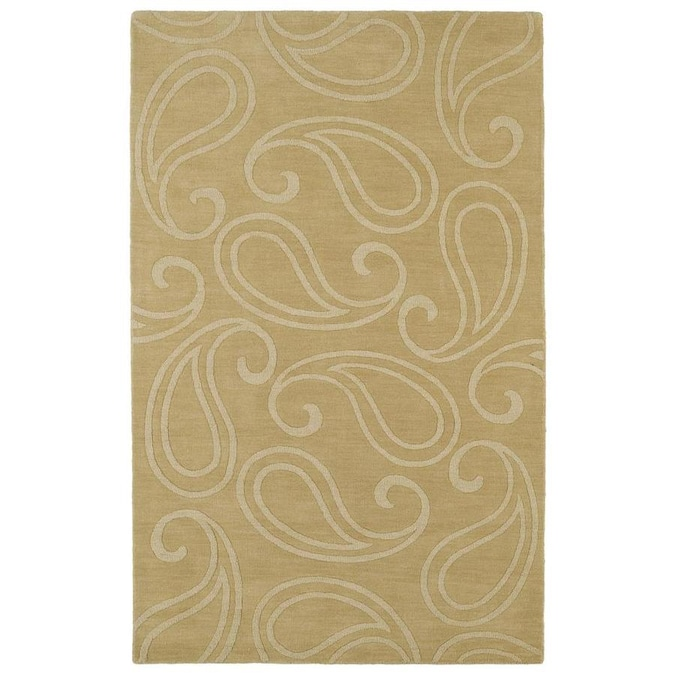 Kaleen Imprints Classic 10 X 14 Yellow Indoor Paisley Southwestern Handcrafted Area Rug In The Rugs Department At Lowes Com