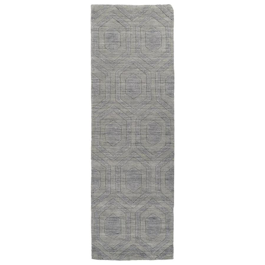 Kaleen Imprints Modern Steel Indoor Handcrafted Moroccan Runner (Common: 3 x 8; Actual: 2.5-ft W x 8-ft L)