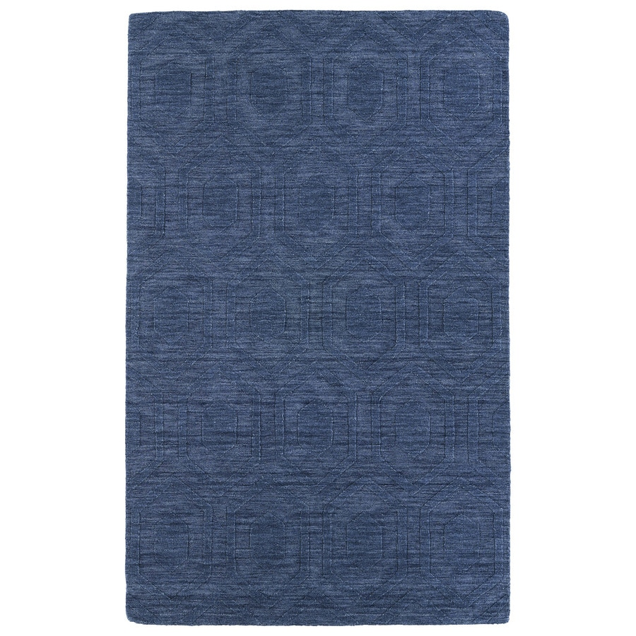 Kaleen Imprints Modern Blue Rectangular Indoor Handcrafted Moroccan Area Rug (Common: 5 x 7; Actual: 5-ft W x 8-ft L)