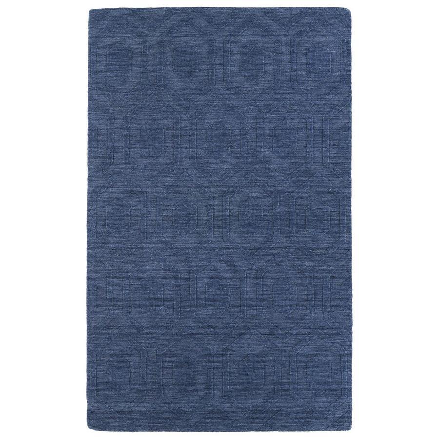Kaleen Imprints Modern Blue Rectangular Indoor Handcrafted Moroccan Area Rug (Common: 10 x 14; Actual: 9.5-ft W x 13.5-ft L)