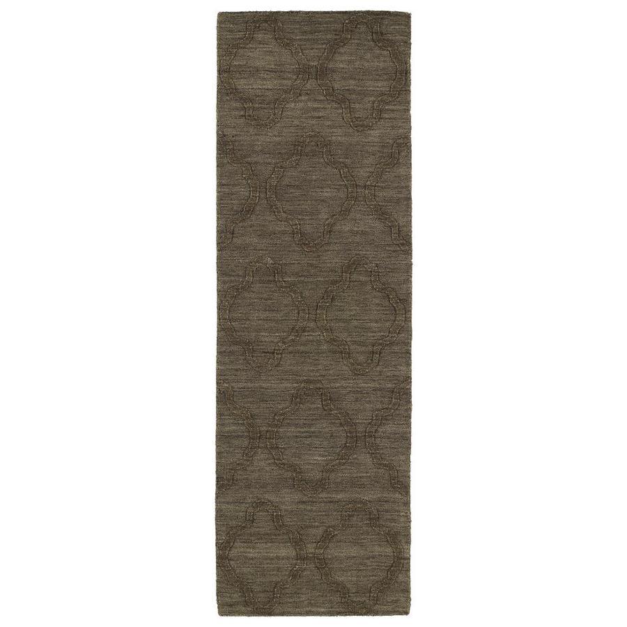 Kaleen Imprints Modern Chocolate Rectangular Indoor Handcrafted Moroccan Runner (Common: 3 X 8; Actual: 2.5-ft W x 8-ft L)