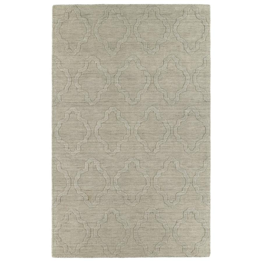 Kaleen Imprints Modern Oatmeal Rectangular Indoor Handcrafted Moroccan Area Rug (Common: 10 x 14; Actual: 9.5-ft W x 13.5-ft L)