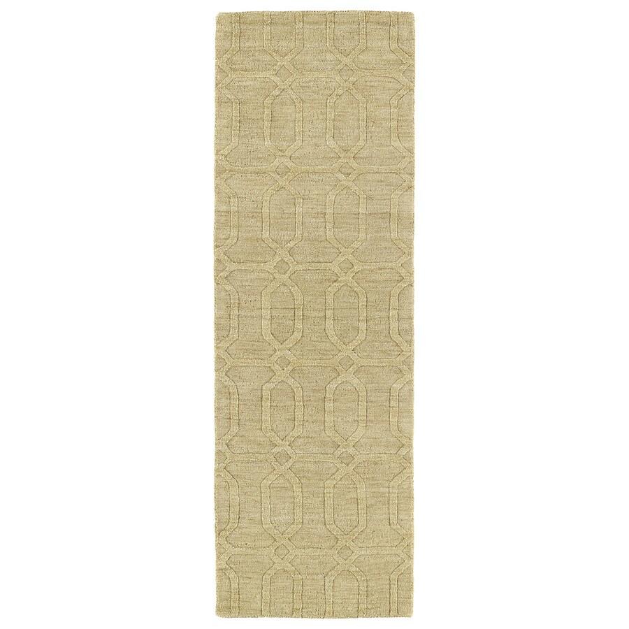 Kaleen Imprints Modern Yellow Indoor Handcrafted Moroccan Runner (Common: 2 x 8; Actual: 2.5-ft W x 8-ft L)