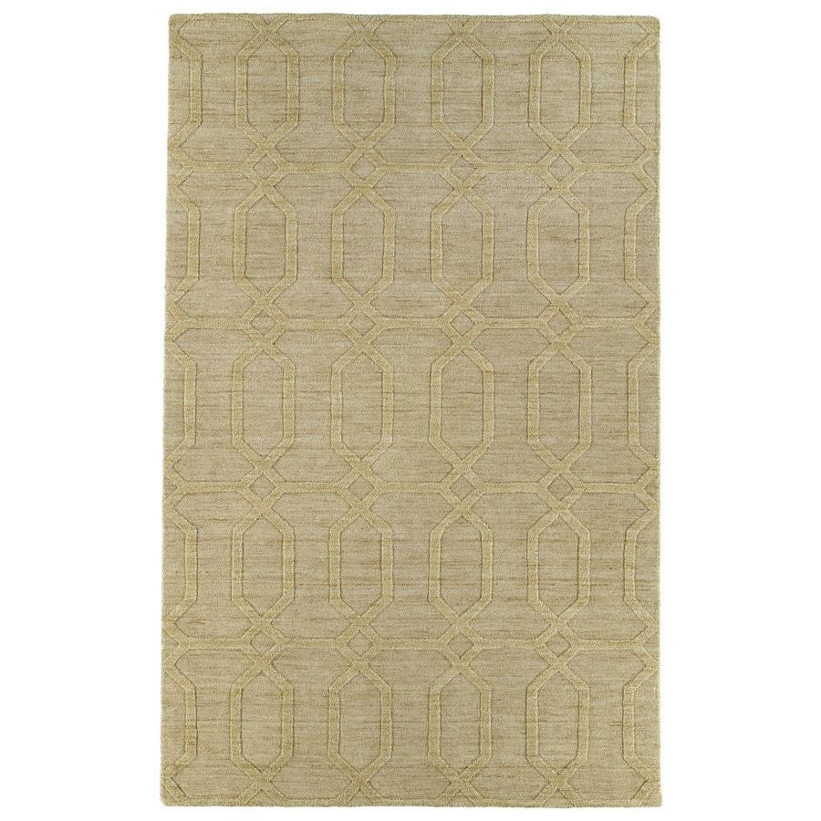 Kaleen Imprints Modern Yellow Rectangular Indoor Handcrafted Moroccan Area Rug (Common: 4 x 6; Actual: 3.5-ft W x 5.5-ft L x 0-ft Dia)