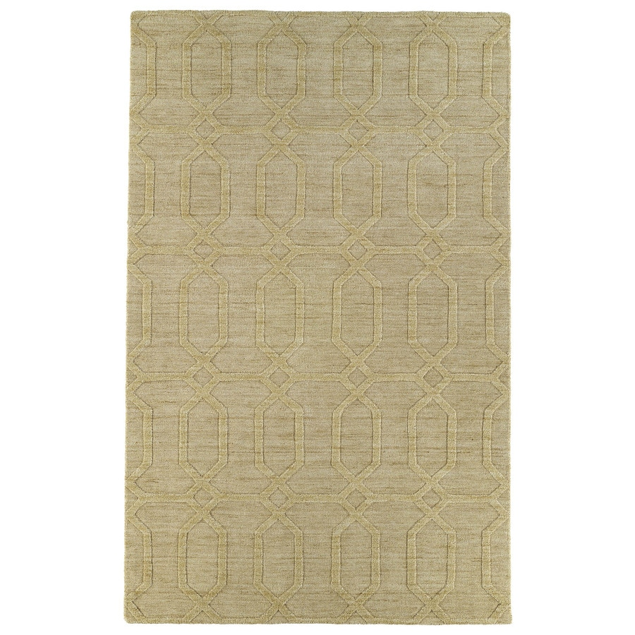 Kaleen Imprints Modern Yellow Rectangular Indoor Handcrafted Moroccan Area Rug (Common: 5 x 7; Actual: 5-ft W x 8-ft L x 0-ft Dia)