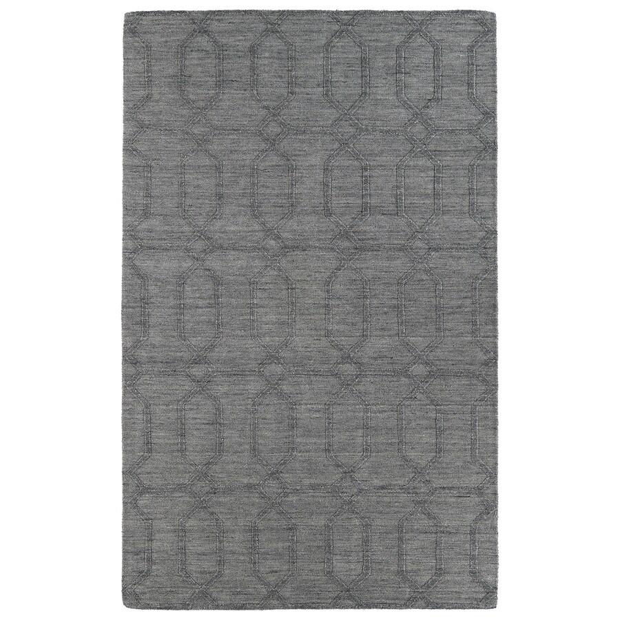 Kaleen Imprints Modern Grey Rectangular Indoor Handcrafted Moroccan Area Rug (Common: 4 x 6; Actual: 3.5-ft W x 5.5-ft L x 0-ft Dia)