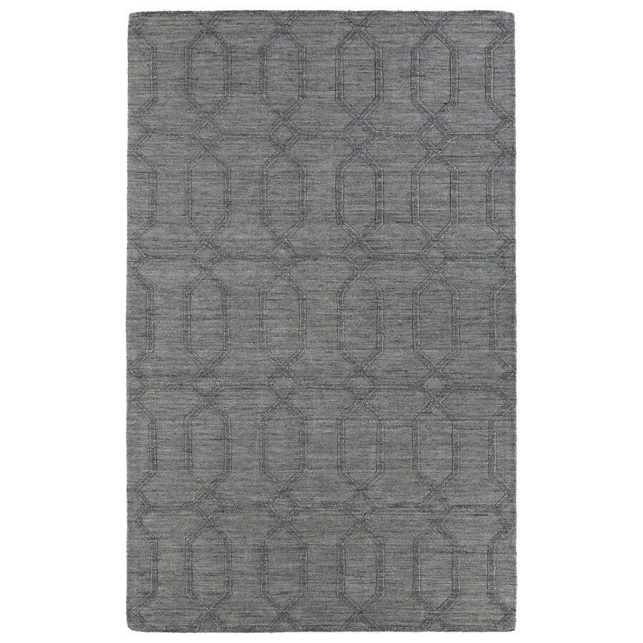 Kaleen Imprints Modern Grey Rectangular Indoor Handcrafted Moroccan Area Rug (Common: 5 x 7; Actual: 5-ft W x 8-ft L)