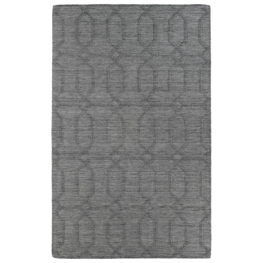 Kaleen IPM Grey 9-ft6-in x 13-ft6-in Area Rug
