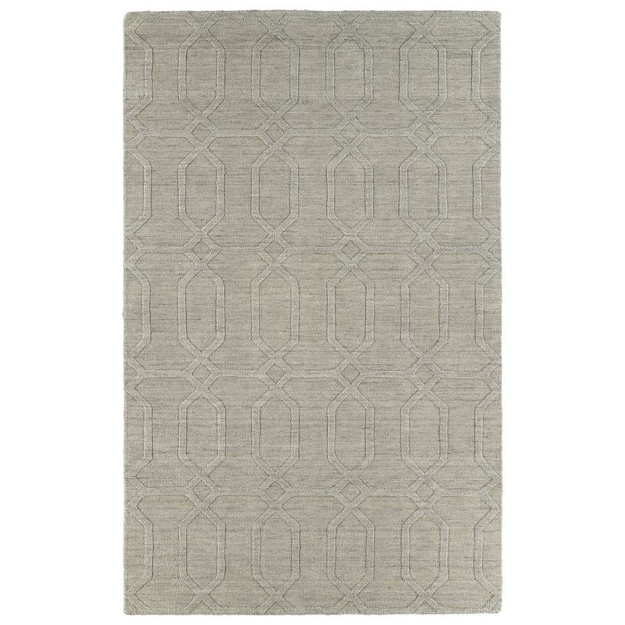 Kaleen Imprints Modern Oatmeal Indoor Handcrafted Moroccan Area Rug (Common: 4 x 6; Actual: 3.5-ft W x 5.5-ft L)