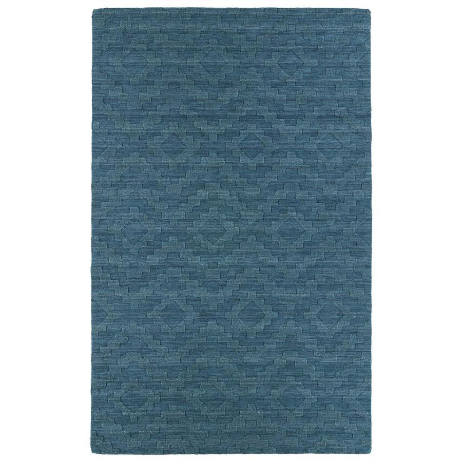 Kaleen Imprints Modern Turquoise Indoor Handcrafted Moroccan Area Rug (Common: 4 x 6; Actual: 3.5-ft W x 5.5-ft L)