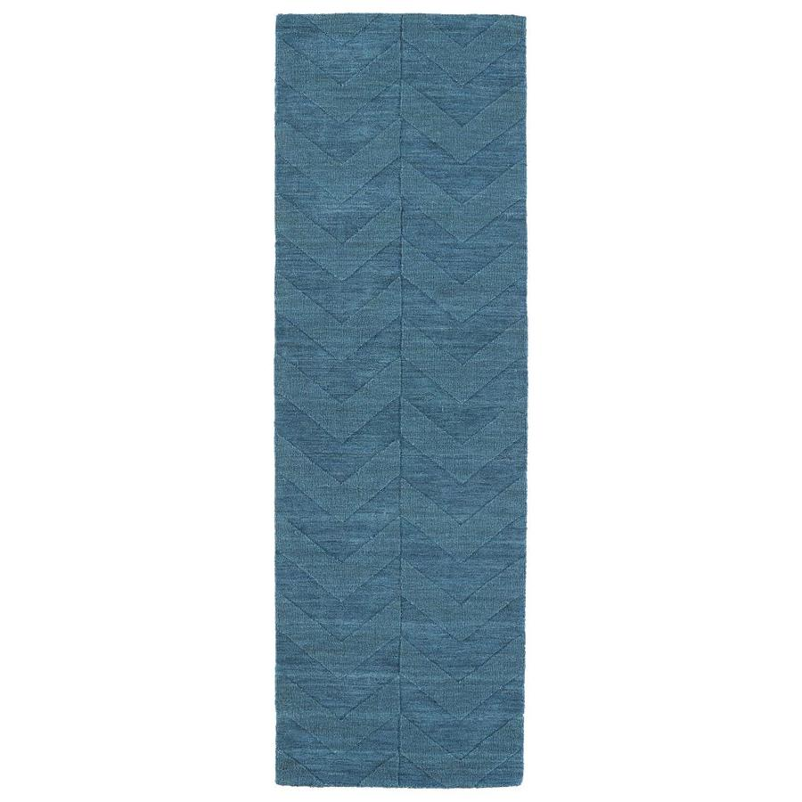 Kaleen Imprints Modern Turquoise Indoor Handcrafted Moroccan Runner (Common: 3 x 8; Actual: 2.5-ft W x 8-ft L)