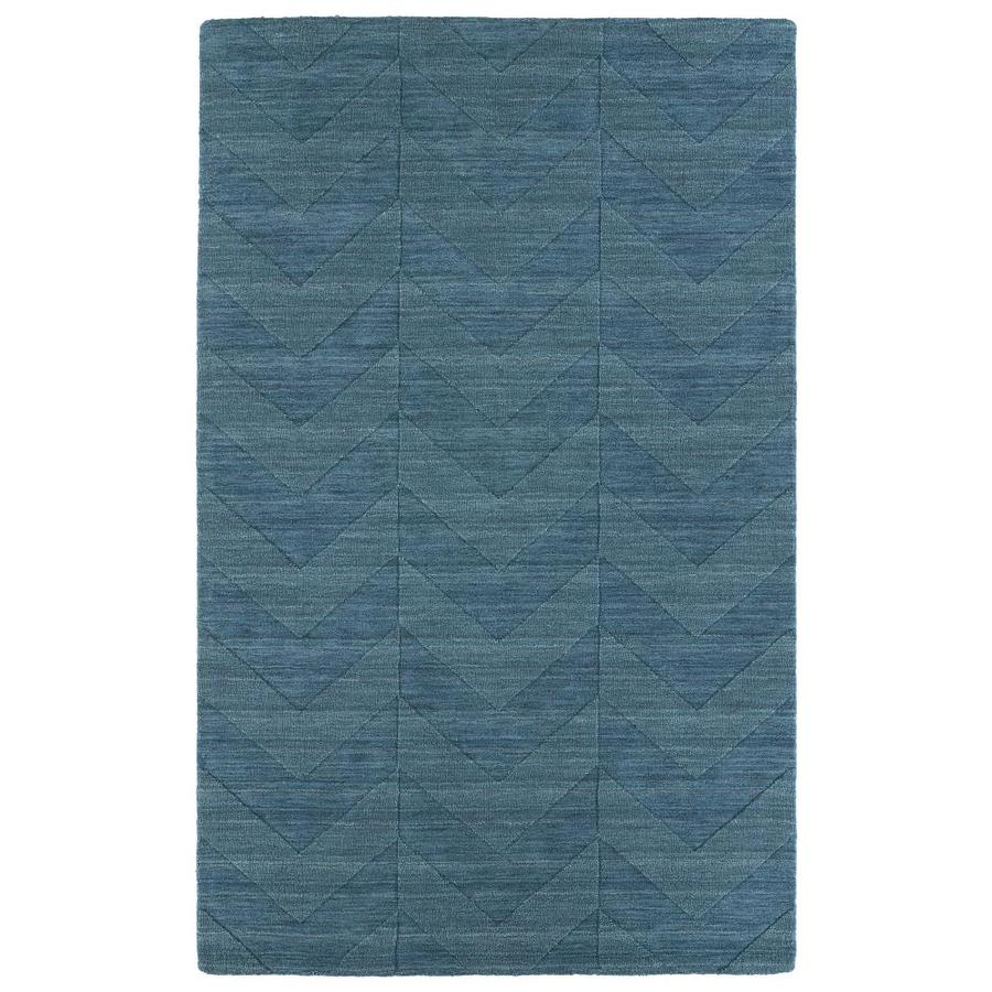 Kaleen Imprints Modern Turquoise Indoor Handcrafted Moroccan Area Rug (Common: 5 x 8; Actual: 5-ft W x 8-ft L)