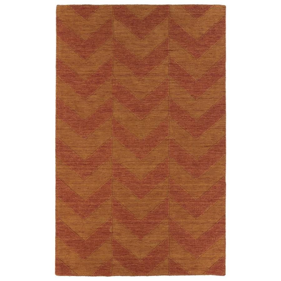 Kaleen Imprints Modern Paprika Rectangular Indoor Handcrafted Moroccan Area Rug (Common: 8 x 11; Actual: 8-ft W x 11-ft L)
