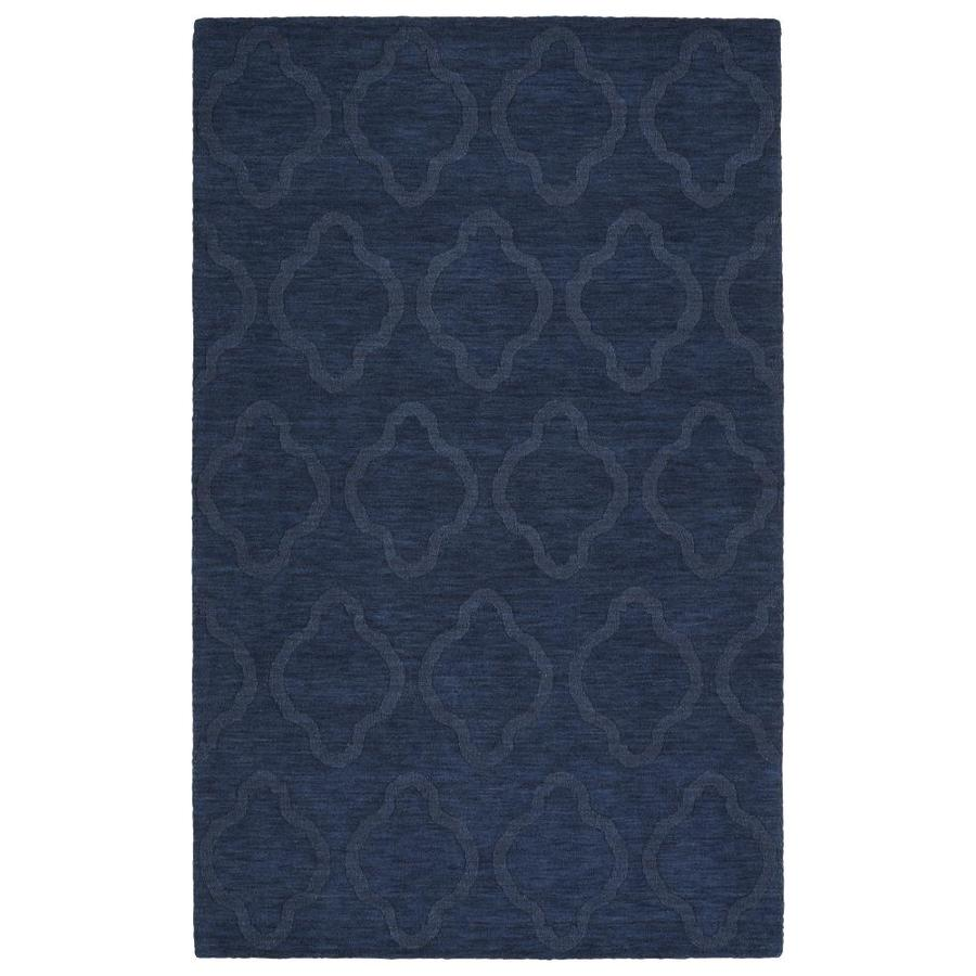 Kaleen Imprints Modern Navy Indoor Handcrafted Moroccan Area Rug (Common: 4 x 6; Actual: 3.5-ft W x 5.5-ft L)