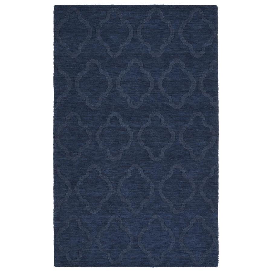 Kaleen Imprints Modern Navy Rectangular Indoor Handcrafted Moroccan Area Rug (Common: 8 x 11; Actual: 8-ft W x 11-ft L)