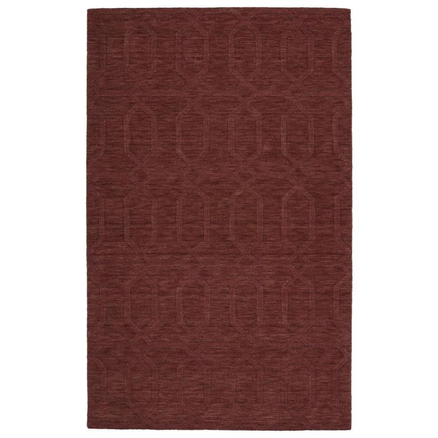 Shop Kaleen Imprints Modern Cinnamon Rectangular Indoor