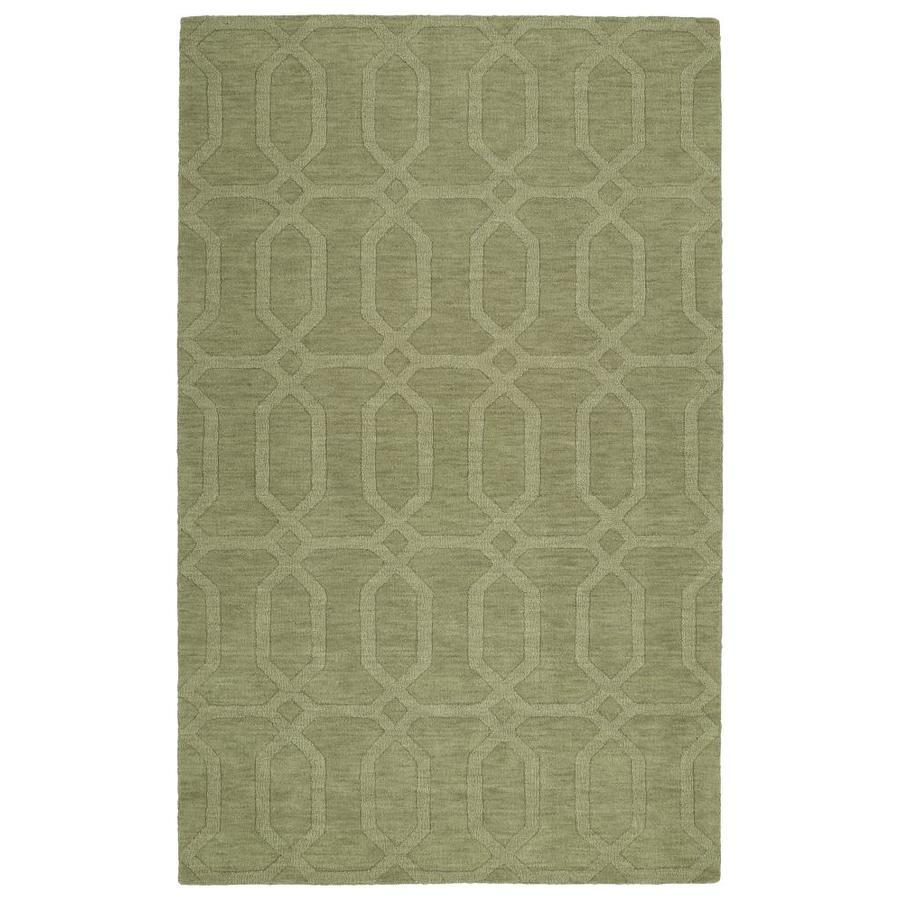 Kaleen Imprints Modern Sage Indoor Handcrafted Moroccan Area Rug (Common: 4 x 6; Actual: 3.5-ft W x 5.5-ft L)