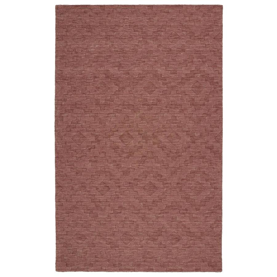 Kaleen Imprints Modern Rose Rectangular Indoor Handcrafted Moroccan Area Rug (Common: 4 x 6; Actual: 3.5-ft W x 5.5-ft L)