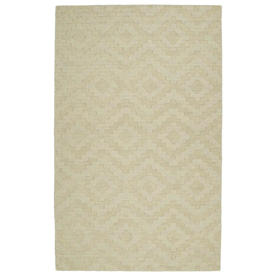 Kaleen Imprints Modern Sand Rectangular Indoor Handcrafted Moroccan Throw Rug (Common: 2 x 3; Actual: 2-ft W x 3-ft L)