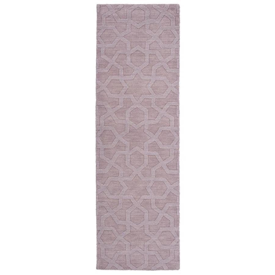 Kaleen Imprints Modern Lilac Indoor Handcrafted Moroccan Runner (Common: 2 x 8; Actual: 2.5-ft W x 8-ft L)