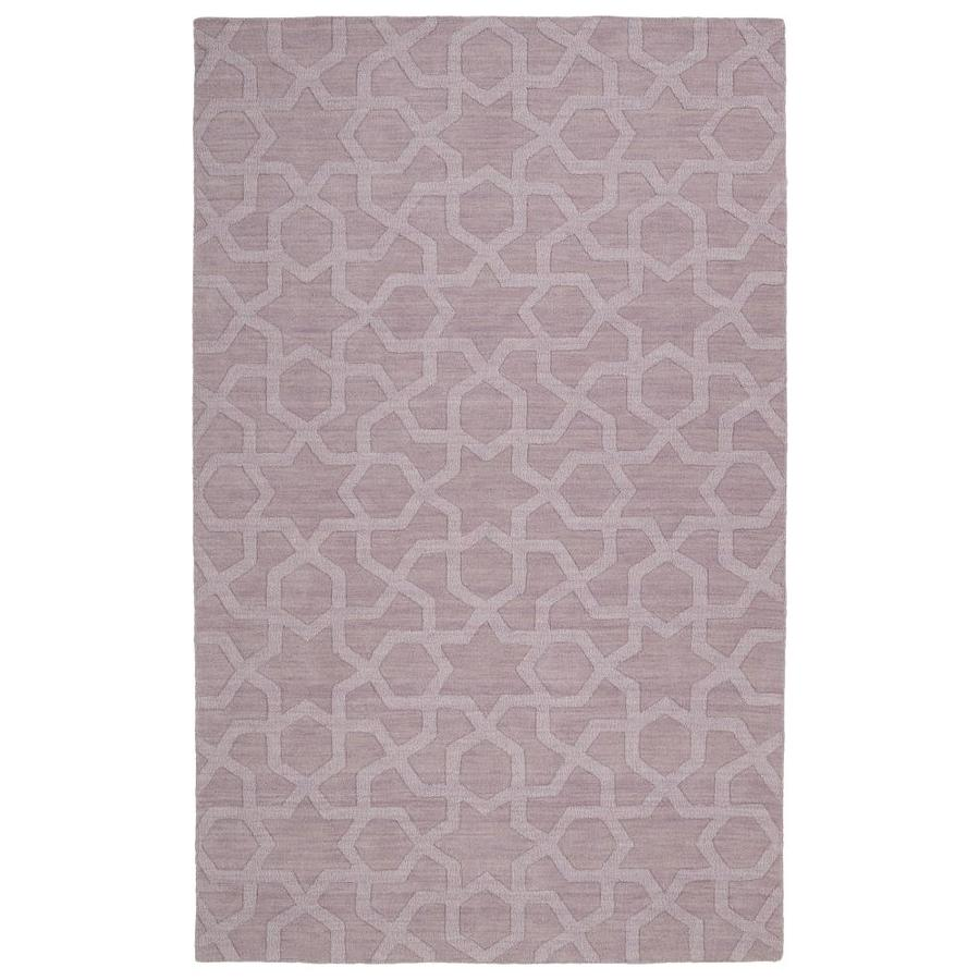 Kaleen Imprints Modern Lilac Rectangular Indoor Handcrafted Moroccan Area Rug (Common: 4 x 6; Actual: 3.5-ft W x 5.5-ft L)