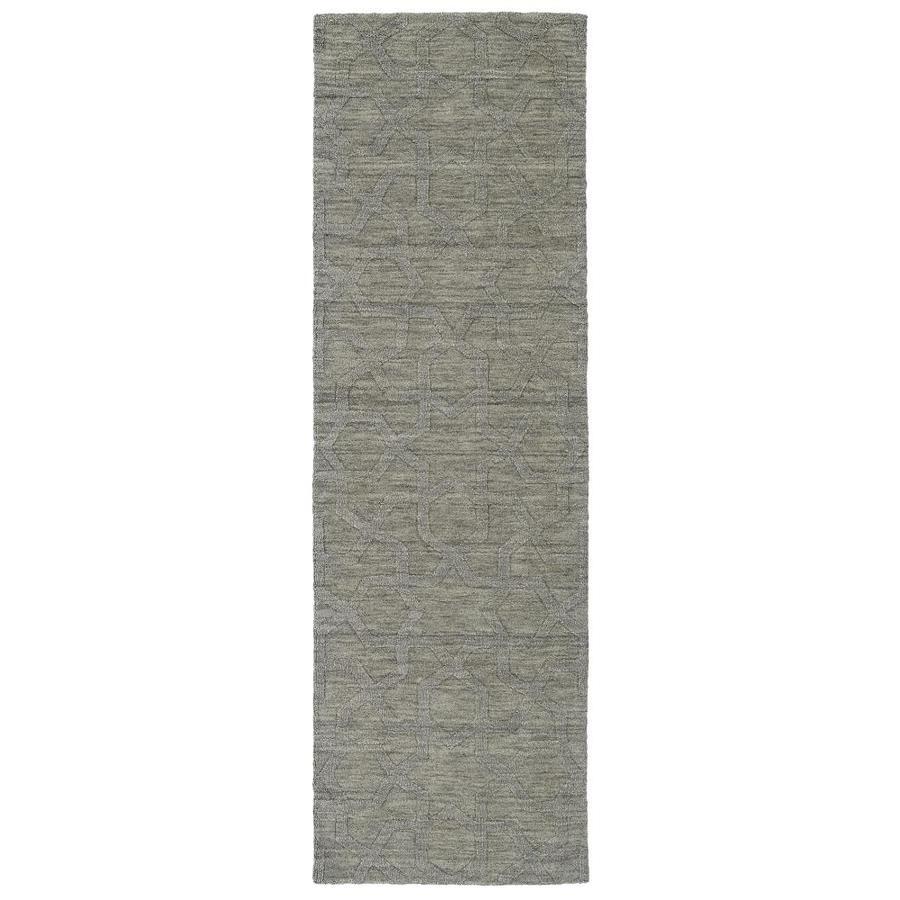 Kaleen Imprints Modern Grey Rectangular Indoor Handcrafted Moroccan Runner (Common: 2 x 8; Actual: 2.5-ft W x 8-ft L)