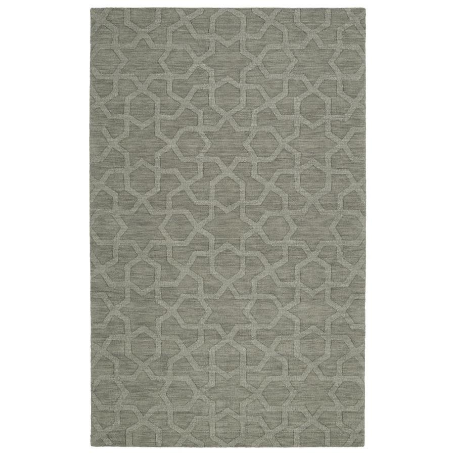 Kaleen Imprints Modern Grey Rectangular Indoor Handcrafted Moroccan Area Rug (Common: 4 x 6; Actual: 3.5-ft W x 5.5-ft L)