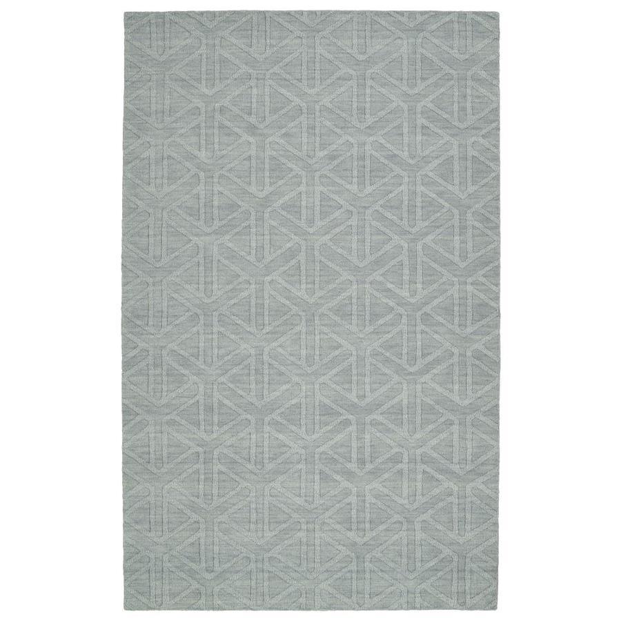 Kaleen Imprints Modern Light Blue Rectangular Indoor Handcrafted Moroccan Area Rug (Common: 4 x 6; Actual: 3.5-ft W x 5.5-ft L)