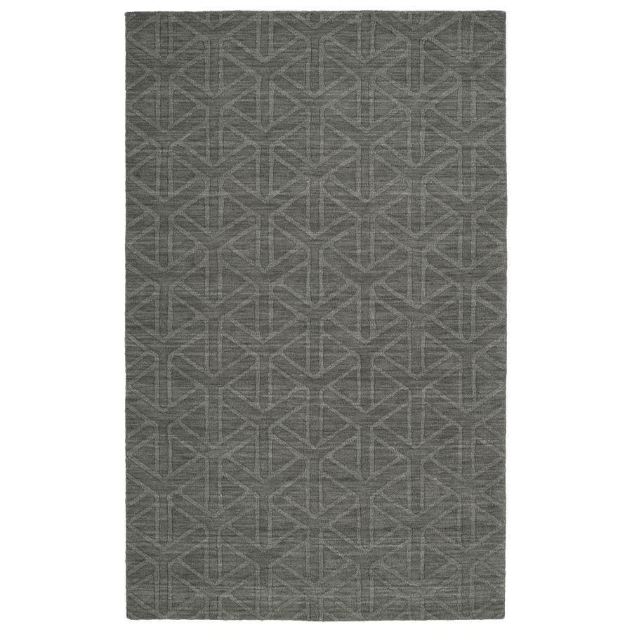 Kaleen Imprints Modern Charcoal Indoor Handcrafted Moroccan Area Rug (Common: 4 x 6; Actual: 3.5-ft W x 5.5-ft L)