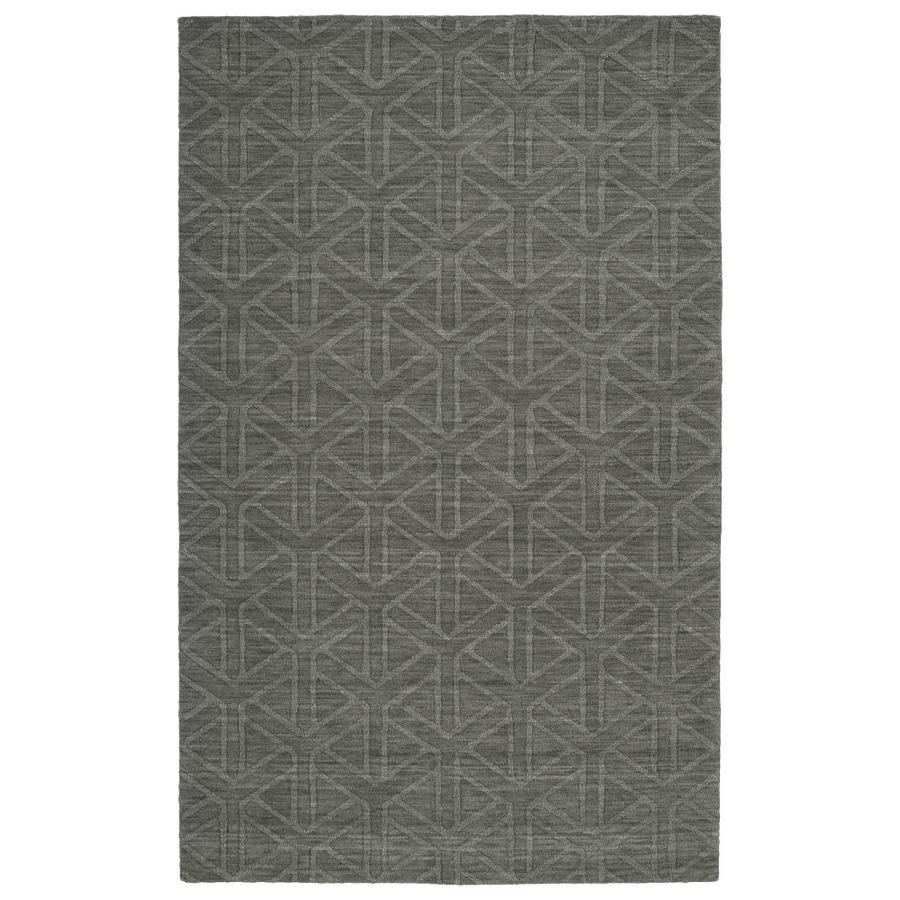 Kaleen Imprints Modern Charcoal Rectangular Indoor Handcrafted Moroccan Area Rug (Common: 10 x 14; Actual: 9.5-ft W x 13.5-ft L)