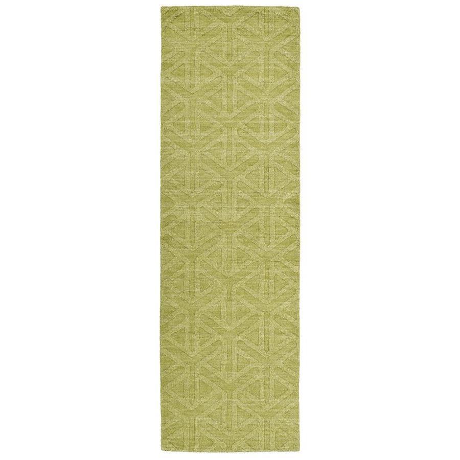 Kaleen Imprints Modern Wasabi Rectangular Indoor Handcrafted Moroccan Runner (Common: 2 x 8; Actual: 2.5-ft W x 8-ft L)
