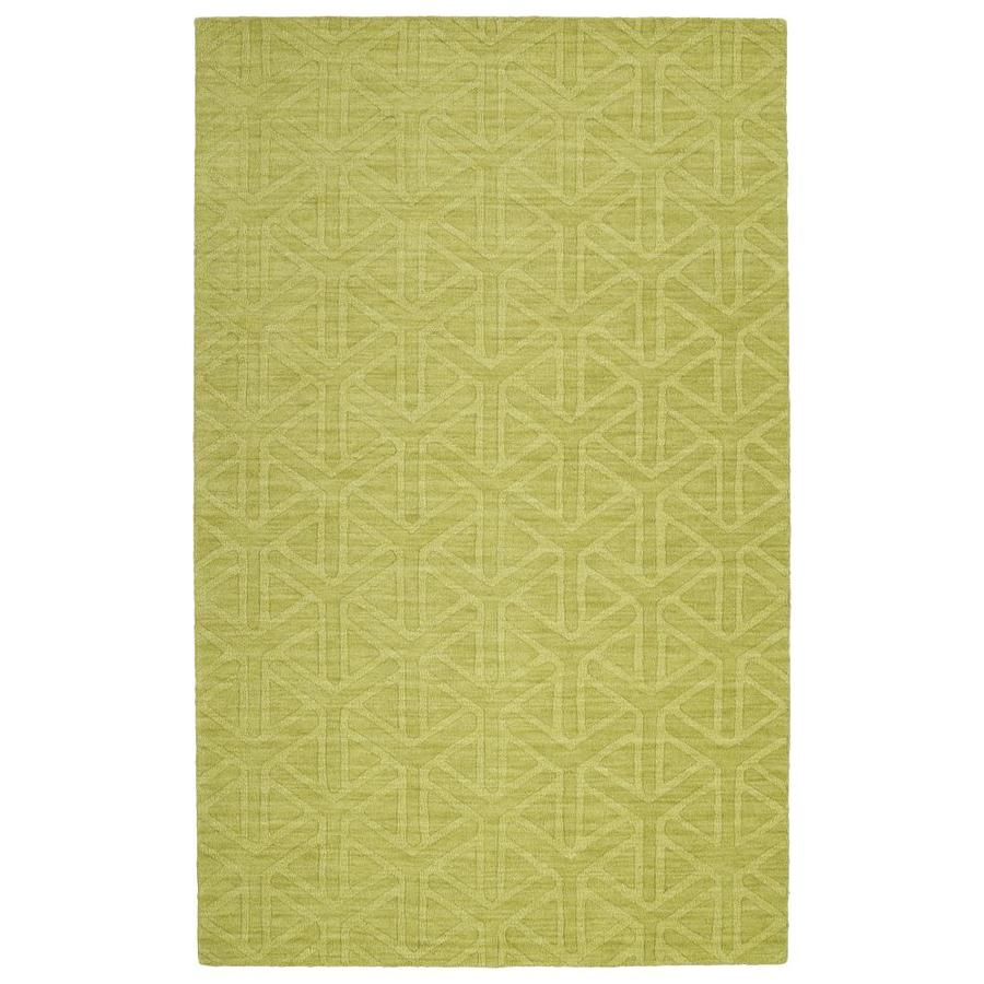 Kaleen Imprints Modern Wasabi Indoor Handcrafted Moroccan Area Rug (Common: 4 x 6; Actual: 3.5-ft W x 5.5-ft L)