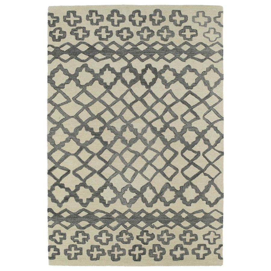 Kaleen Casablanca Grey Indoor Handcrafted Moroccan Throw Rug (Common: 2 x 3; Actual: 2-ft W x 3-ft L)