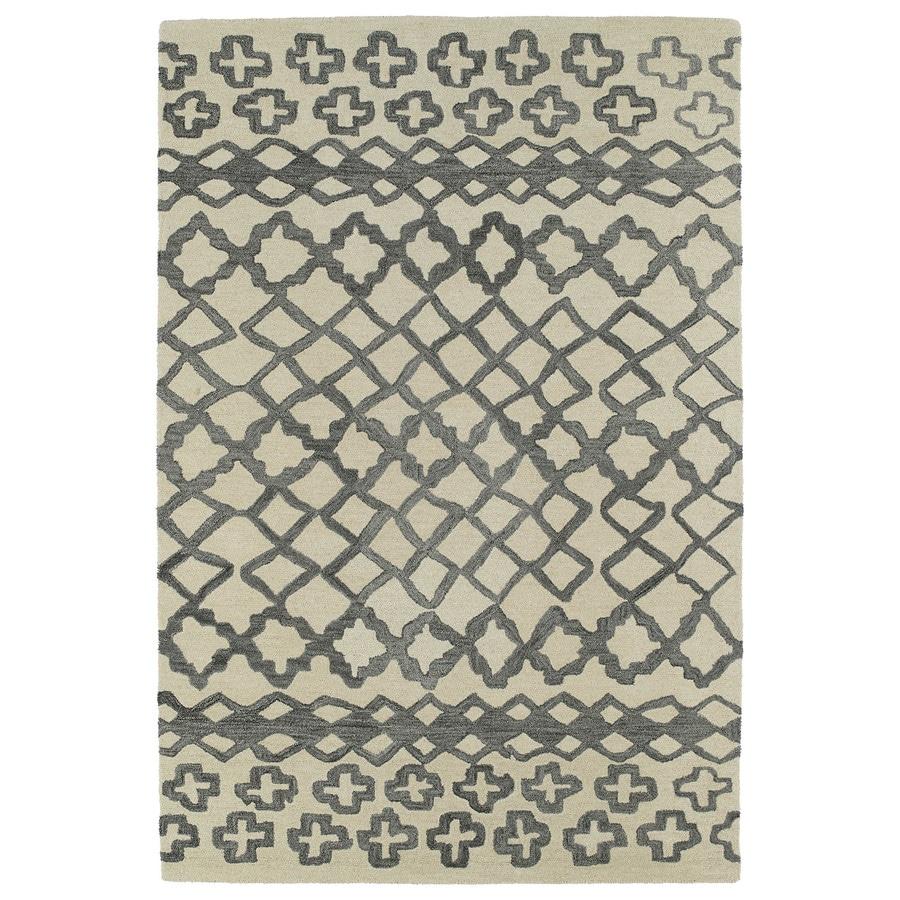 Kaleen Casablanca Grey Rectangular Indoor Handcrafted Moroccan Area Rug (Common: 4 x 6; Actual: 4-ft W x 6-ft L x 0-ft Dia)