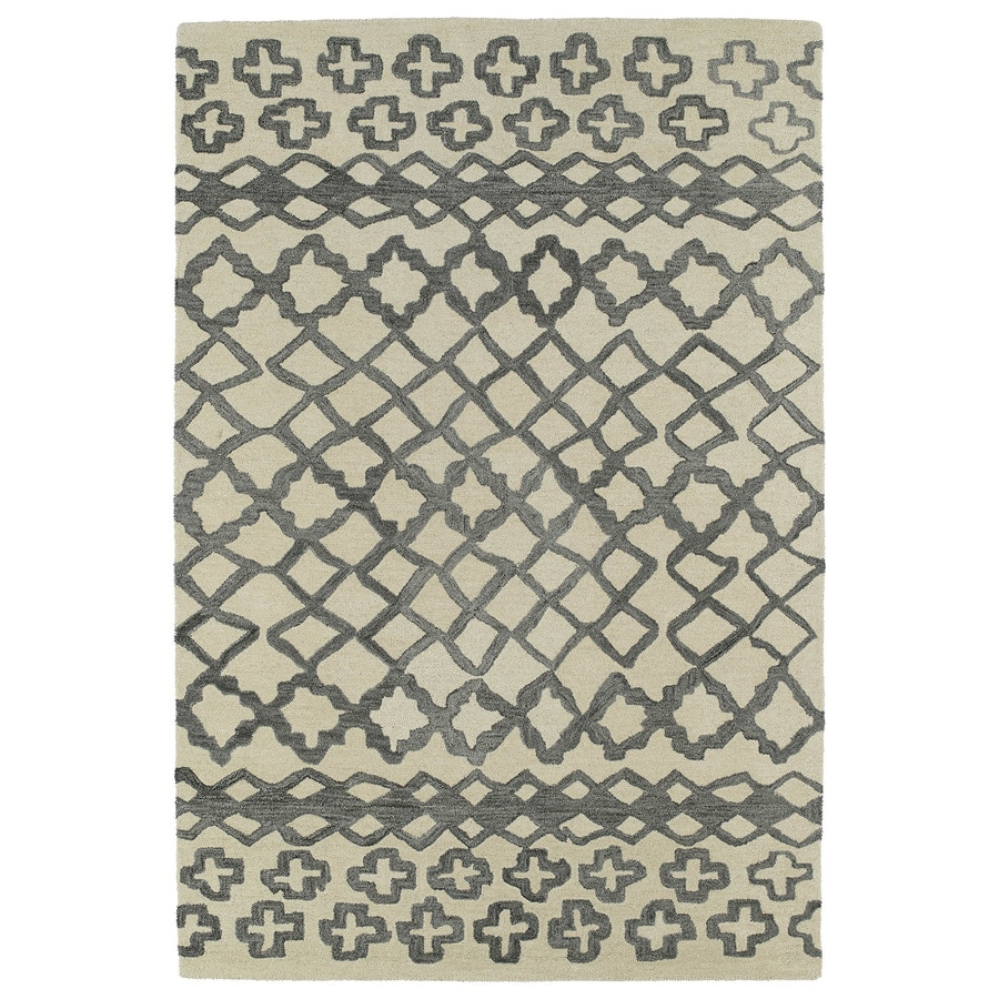 Kaleen Casablanca Grey Rectangular Indoor Tufted Moroccan Area Rug (Common: 8 x 11; Actual: 8-ft W x 11-ft L)