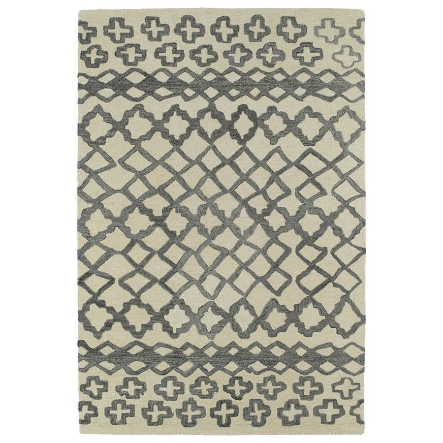 Kaleen Casablanca Grey Indoor Handcrafted Moroccan Area Rug (Common: 10 x 13; Actual: 9.5-ft W x 13.5-ft L)