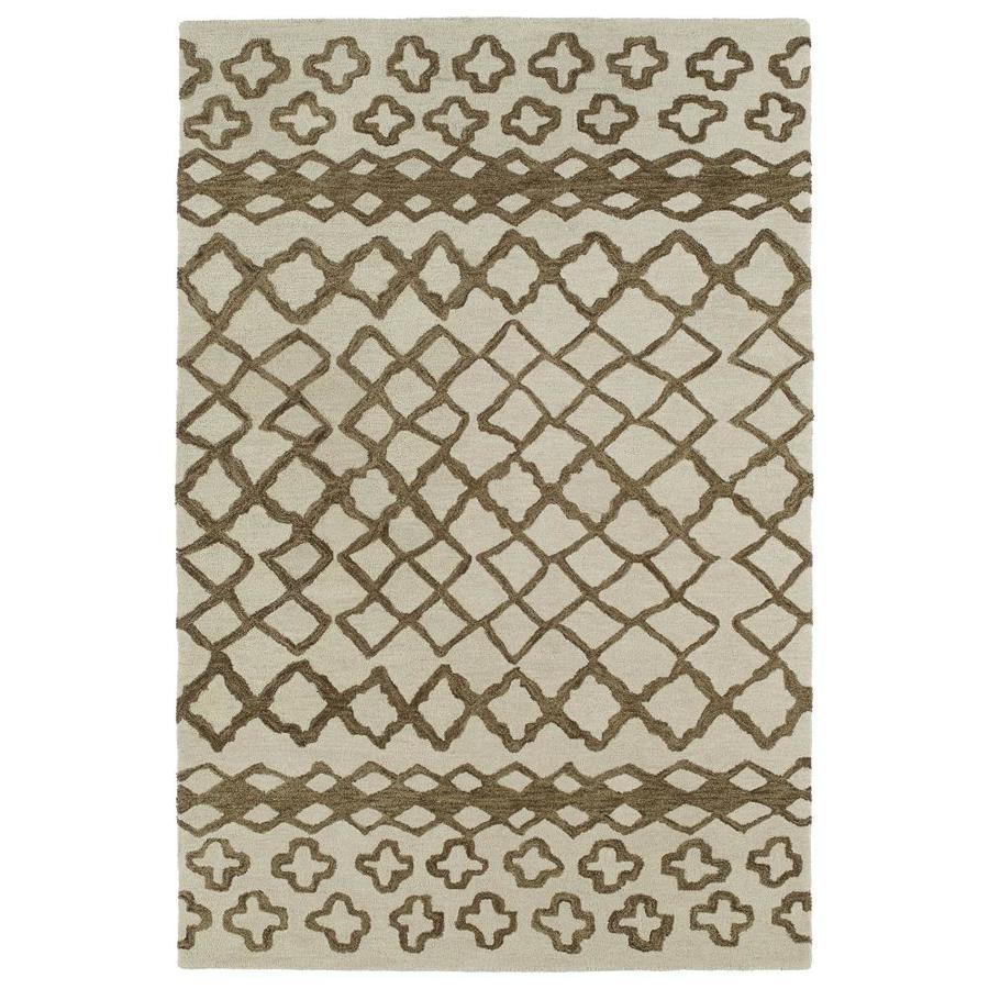 Kaleen Casablanca Brown Indoor Handcrafted Moroccan Throw Rug (Common: 2 x 3; Actual: 2-ft W x 3-ft L)