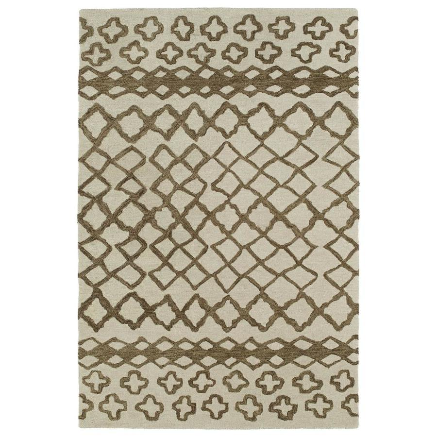 Kaleen Casablanca Brown Indoor Handcrafted Moroccan Area Rug (Common: 10 x 14; Actual: 9.5-ft W x 13.5-ft L)