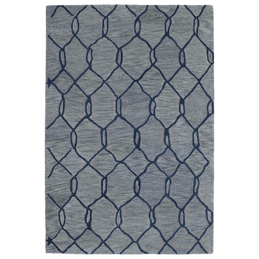 Kaleen Casablanca Blue Rectangular Indoor Handcrafted Moroccan Area Rug (Common: 8X11; Actual: 8-ft W x 11-ft L x 0-ft Dia)