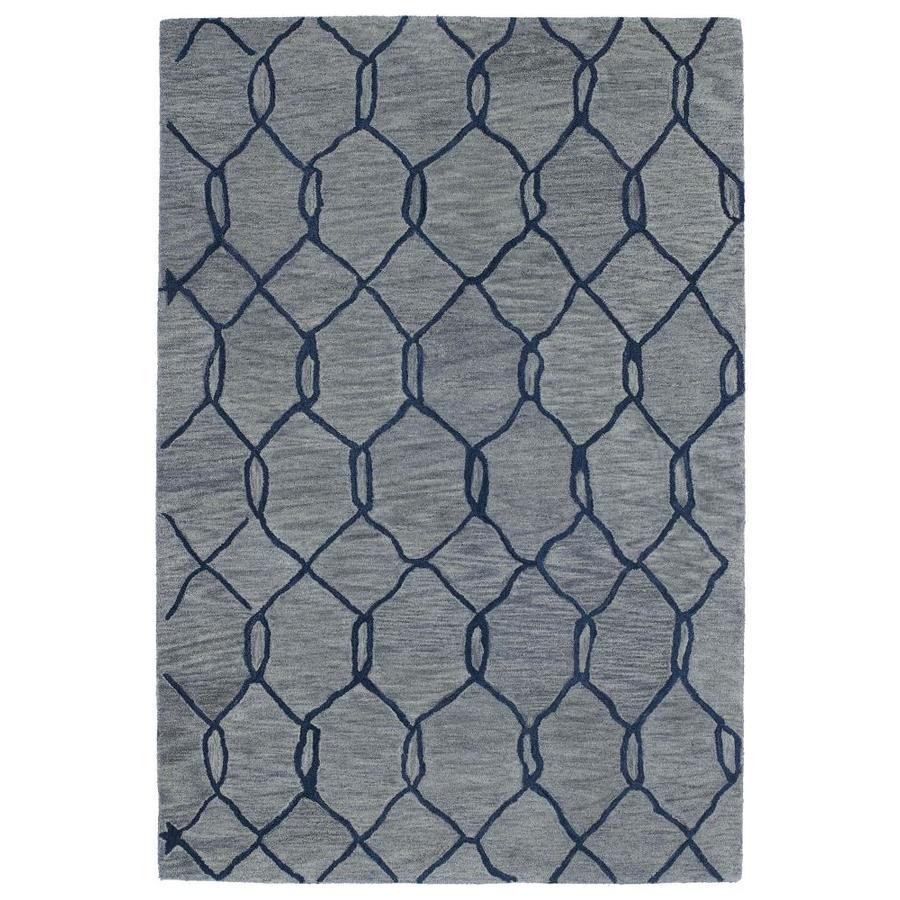 Kaleen Casablanca Blue Indoor Handcrafted Moroccan Area Rug (Common: 2 x 10; Actual: 3-ft W x 10-ft L)