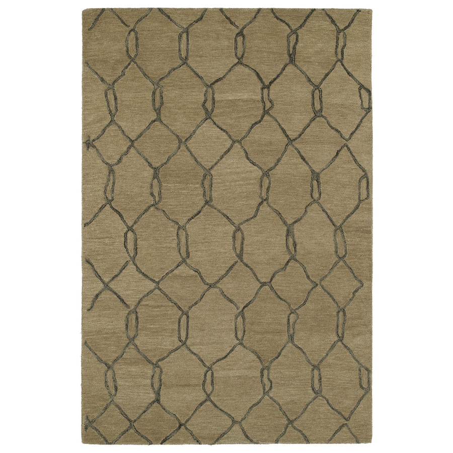 Kaleen Casablanca Light Brown Rectangular Indoor Tufted Moroccan Area Rug (Common: 4 x 6; Actual: 48-in W x 72-in L)