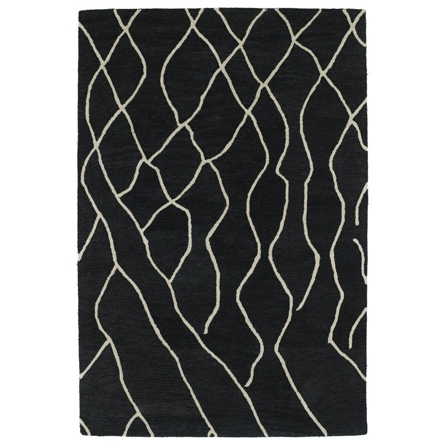 Kaleen Casablanca Charcoal Indoor Handcrafted Moroccan Throw Rug (Common: 2 x 3; Actual: 2-ft W x 3-ft L)