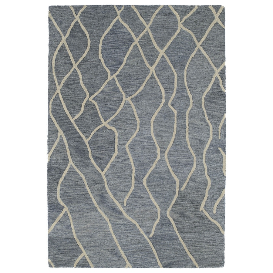 Kaleen Casablanca Grey Rectangular Indoor Handcrafted Moroccan Area Rug (Common: 4 x 6; Actual: 4-ft W x 6-ft L)