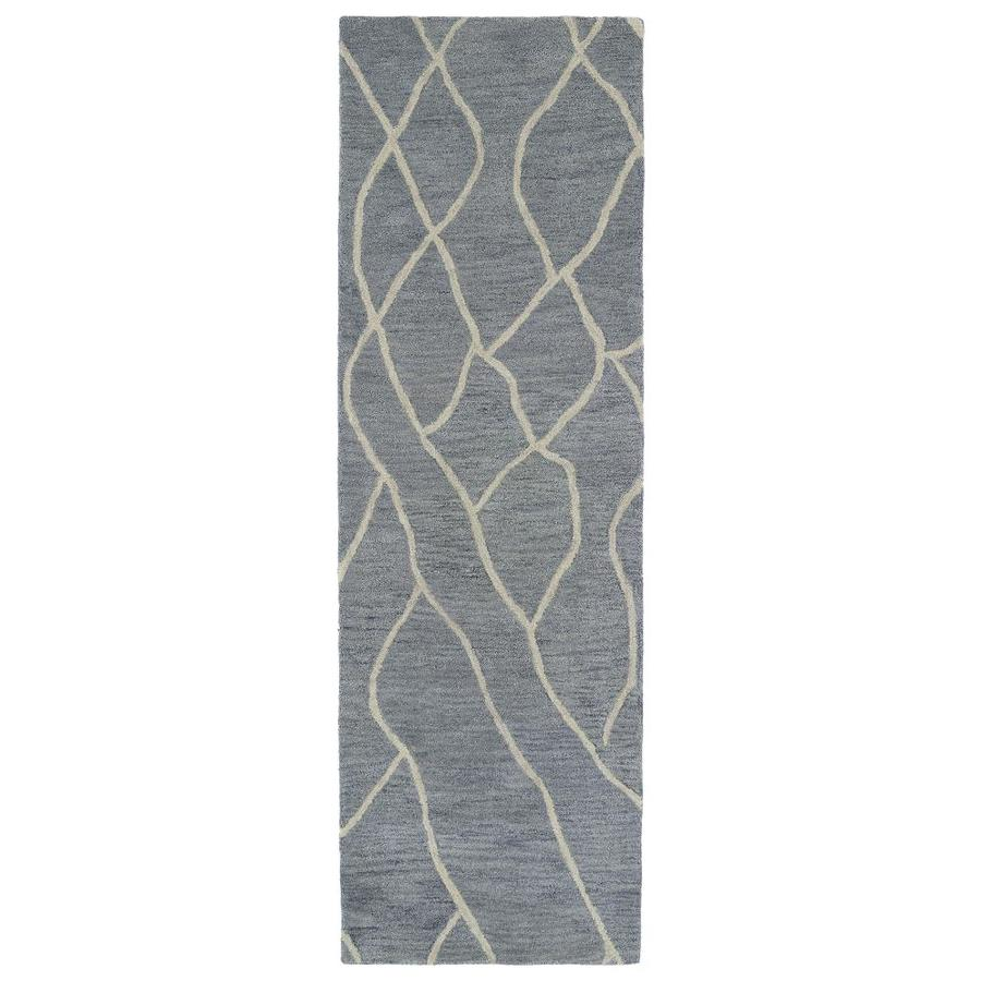 Kaleen Casablanca Grey Indoor Handcrafted Moroccan Runner (Common: 2 x 8; Actual: 2.5-ft W x 8-ft L)