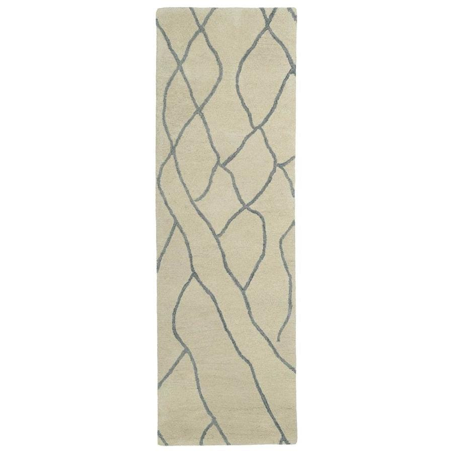 Kaleen Casablanca Ivory Indoor Handcrafted Moroccan Runner (Common: 3 x 8; Actual: 2.5-ft W x 8-ft L)